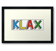 KLAX. Framed Print