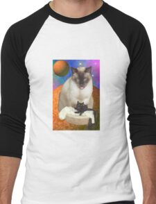 Cats in Space 8 Men's Baseball ¾ T-Shirt