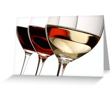Red/White/Rose Wine Greeting Card