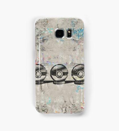 Pokemon - 3 Pokéballs Graffiti (Black) Samsung Galaxy Case/Skin