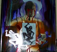 The Past, Present, and Future Self-portrait (Mixed Media)- by Robert Dye