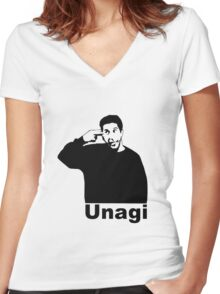 Unagi  Women's Fitted V-Neck T-Shirt