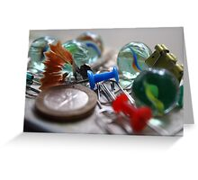Messy Marbles Greeting Card