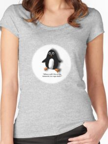 Penguin Losing a Home? Women's Fitted Scoop T-Shirt