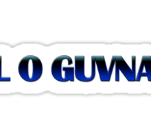 L O Guvna Sticker
