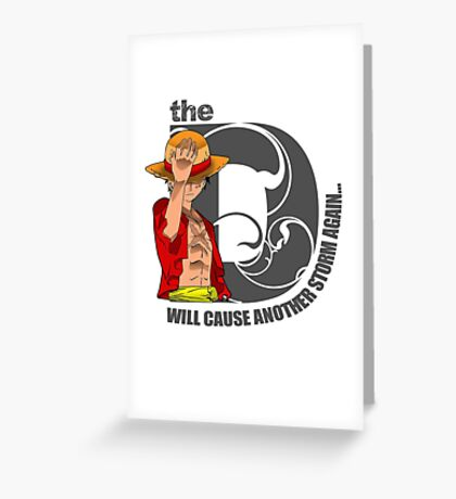 Luffy Will of D Greeting Card