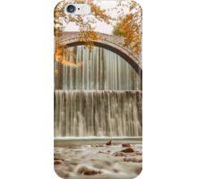 Bridge to autumn waterfall iPhone Case/Skin