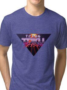 Texas Toku Taisen - Justice Prevails!  Tri-blend T-Shirt