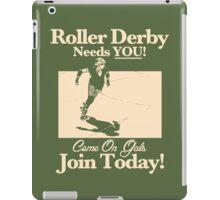 Roller Girl Recruitment Poster (Retro Green) iPad Case/Skin