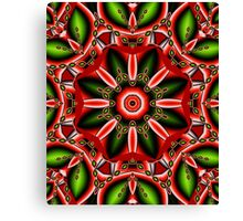 Fantasy Flower in Chrstmas colors Canvas Print