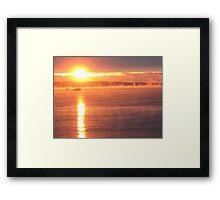 Sunrise at St John Framed Print
