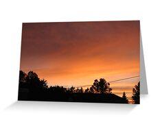 Our Azilda evening sky Greeting Card