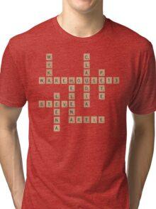 Warehouse Scrabble Tri-blend T-Shirt