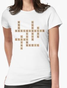 Warehouse Scrabble Womens Fitted T-Shirt