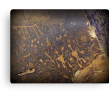 Newspaper Rock Canvas Print