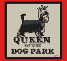 Yorkshire Terrier Queen of the Dog Park One Piece - Short Sleeve