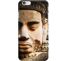Buddhist Statues: Deva at Angkor, Cambodia iPhone Case/Skin