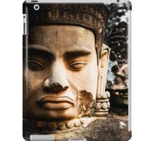 Buddhist Statues: Deva at Angkor, Cambodia iPad Case/Skin
