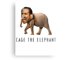 Nicolas Cage The Elephant Metal Print