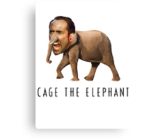 Nicolas Cage The Elephant Canvas Print