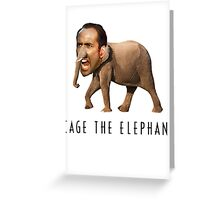 Nicolas Cage The Elephant Greeting Card