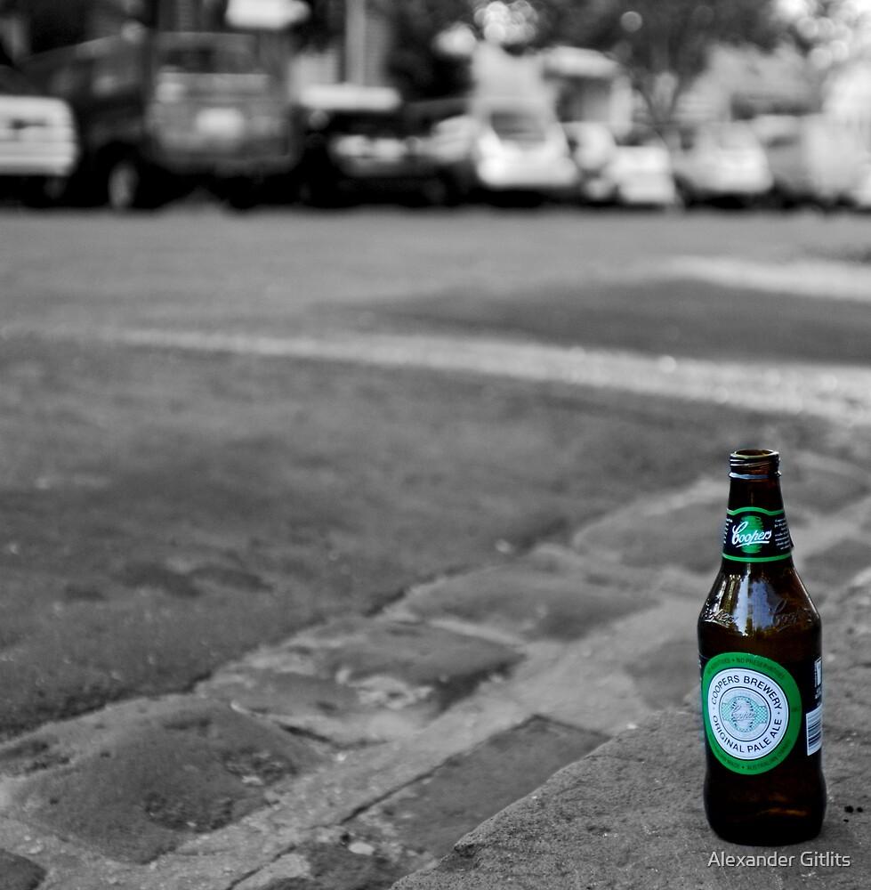 Lone Beer by Alexander Gitlits