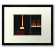 Light Shade Triptych Framed Print