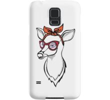 Deer girl with sunglass. Fashion stag. Samsung Galaxy Case/Skin