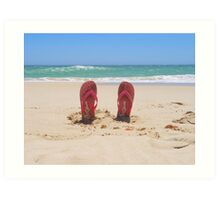 Ocean Thongs Art Print