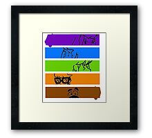 The Scooby Gang Framed Print