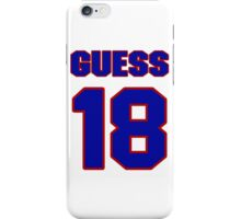 National football player Terry Guess jersey 18 iPhone Case/Skin