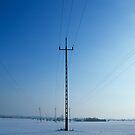 Pylons in Snow by Kasia Nowak