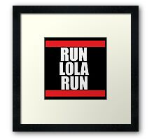 Run lola run  DMC mashup Framed Print