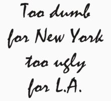 L.A and New York Sticker by VisualJukebox