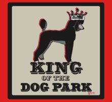 Poodle King of the Dog Park Kids Tee