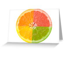 Citrus Fruit Greeting Card