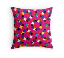 Comic Book Halftone Red Throw Pillow
