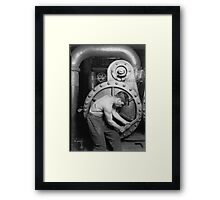 Lewis Hines - Powerhouse Mechanic - Classic Vintage Image Framed Print