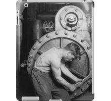 Lewis Hines - Powerhouse Mechanic - Classic Vintage Image iPad Case/Skin