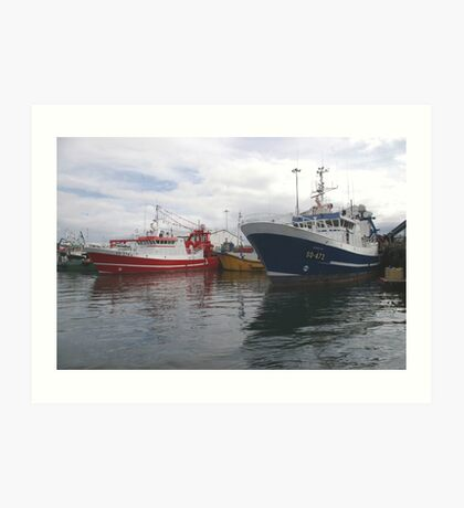 Fishing Boats in Donegal Art Print