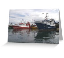 Fishing Boats in Donegal Greeting Card