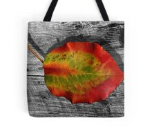 Leaf on Barnwood Tote Bag