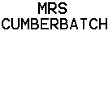 Mrs Cumberbatch by Izlucey