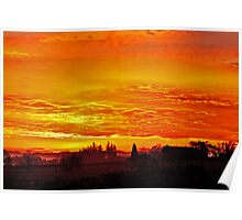 Sunrise over Oregon Poster
