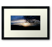 Sunset over Mow Cop Framed Print