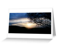 Sunset over Mow Cop Greeting Card