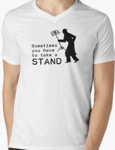 Take a Stand Mens V-Neck T-Shirt
