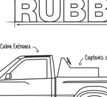 Ambitious but Rubbish Toybota blueprint sticker Sticker