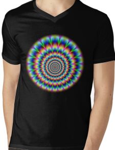 RGB Pulse (feathered) Mens V-Neck T-Shirt