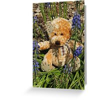 Playing With Muscari Greeting Card